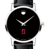 Stanford University Women's Movado Museum with Leather Strap