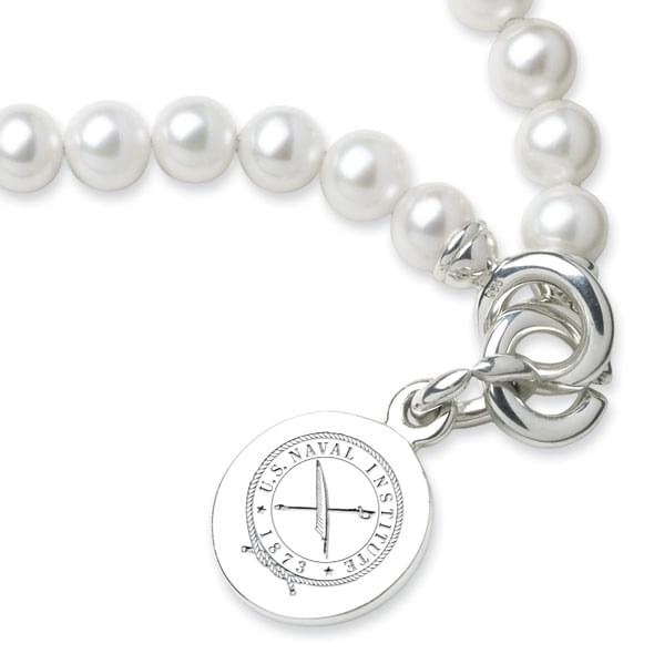 USNI Pearl Bracelet with Sterling Silver Charm - Image 2