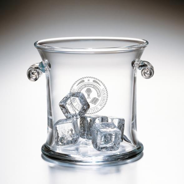 Miami University Glass Ice Bucket by Simon Pearce