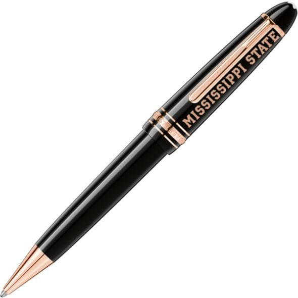 Mississippi State Montblanc Meisterstück LeGrand Ballpoint Pen in Red Gold - Image 1