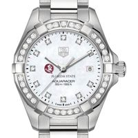 Florida State Women's TAG Heuer Steel Aquaracer with MOP Diamond Dial & Diamond Bezel