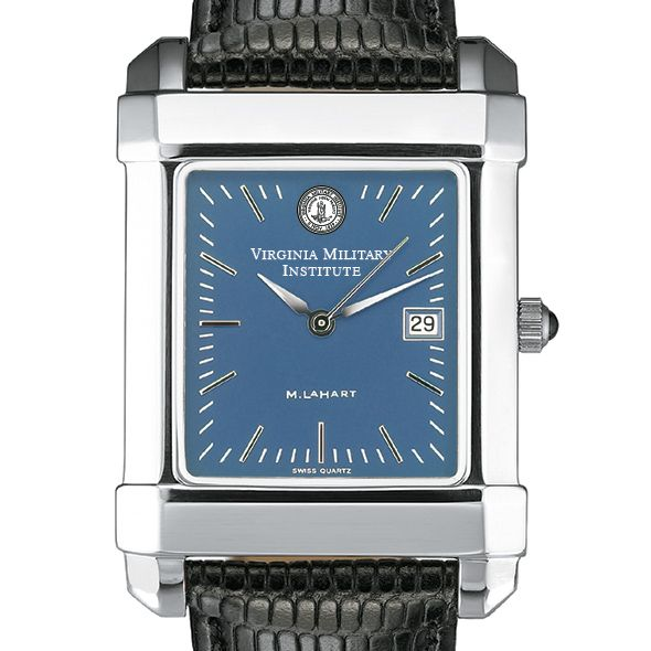 VMI Men's Blue Quad Watch with Leather Strap