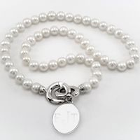 Pearl Necklace with Sterling Silver Charm
