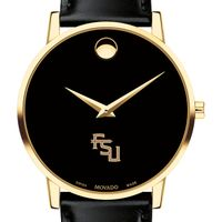 Florida State University Men's Movado Gold Museum Classic Leather