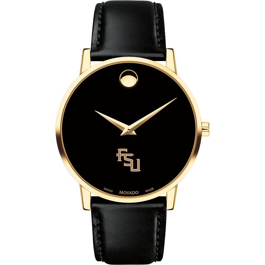 Florida State Men's Movado Gold Museum Classic Leather - Image 2