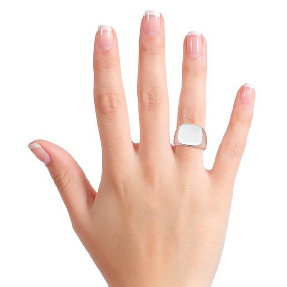 Cornell Sterling Silver Square Cushion Ring - Image 7