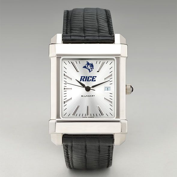 Rice University Men's Collegiate Watch with Leather Strap - Image 2