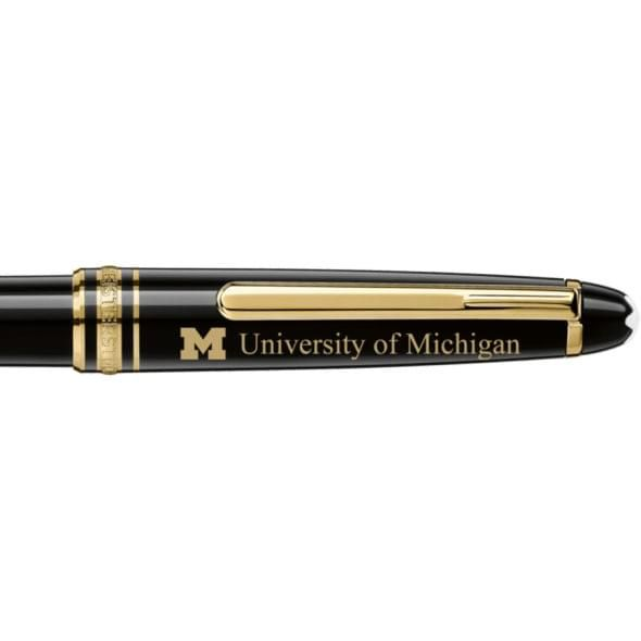 University of Michigan Montblanc Meisterstück Classique Ballpoint Pen in Gold - Image 2