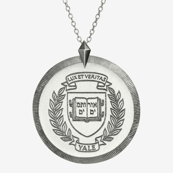 Yale Sterling Silver Florentine Necklace by Kyle Cavan
