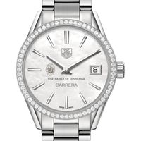 University of Tennessee Women's TAG Heuer Steel Carrera with MOP Dial & Diamond Bezel