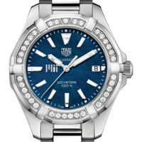 MIT Women's TAG Heuer 35mm Steel Aquaracer with Blue Dial