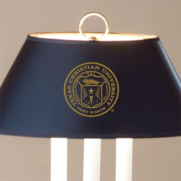 Texas Christian University Lamp in Brass & Marble - Image 2
