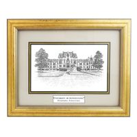 Framed Pen and Ink University of Pennsylvania Print
