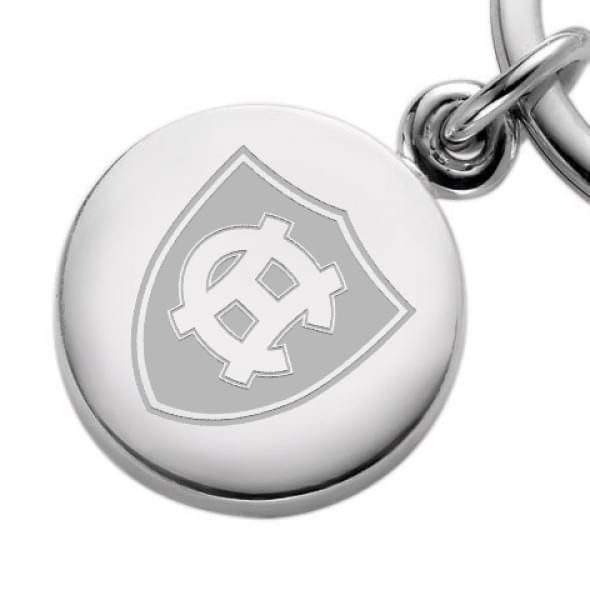 Holy Cross Sterling Silver Insignia Key Ring - Image 2