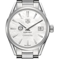 Harvard University Women's TAG Heuer Steel Carrera with MOP Dial