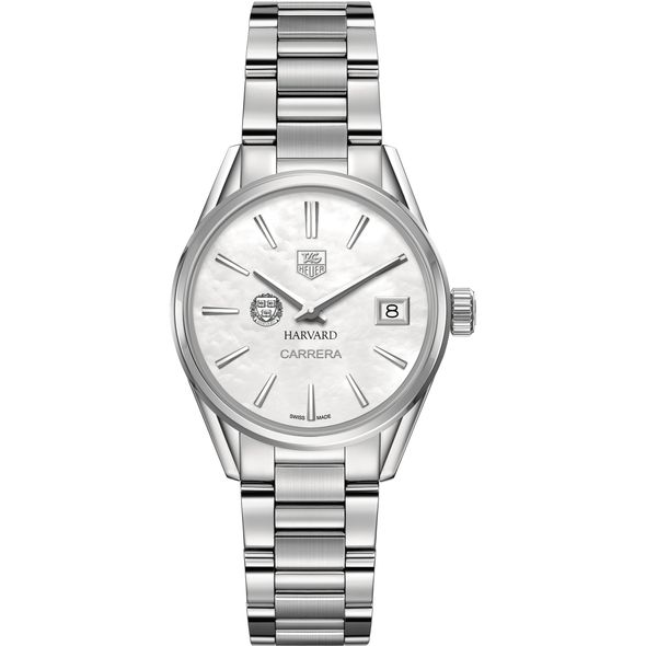 Harvard University Women's TAG Heuer Steel Carrera with MOP Dial - Image 2