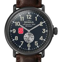NC State Shinola Watch, The Runwell 47mm Midnight Blue Dial