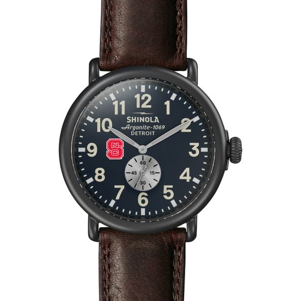 NC State Shinola Watch, The Runwell 47mm Midnight Blue Dial - Image 2