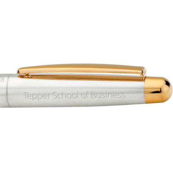 Tepper Fountain Pen in Sterling Silver with Gold Trim - Image 2