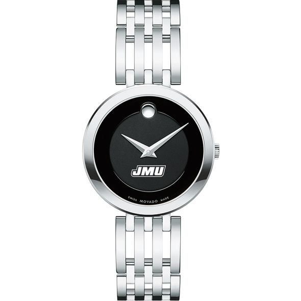 James Madison University Women's Movado Esparanza Stainless Steel Museum with Bracelet - Image 2