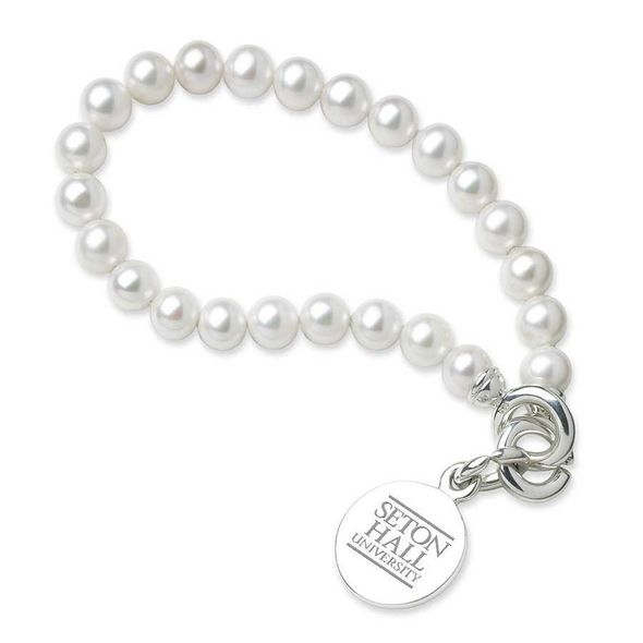 Seton Hall Pearl Bracelet with Sterling Silver Charm - Image 1