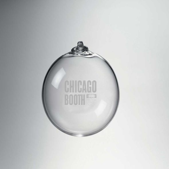 Chicago Booth Glass Ornament by Simon Pearce