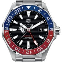 SFASU Men's TAG Heuer Automatic GMT Aquaracer with Black Dial and Blue & Red Bezel