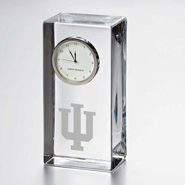 Indiana University Tall Glass Desk Clock by Simon Pearce