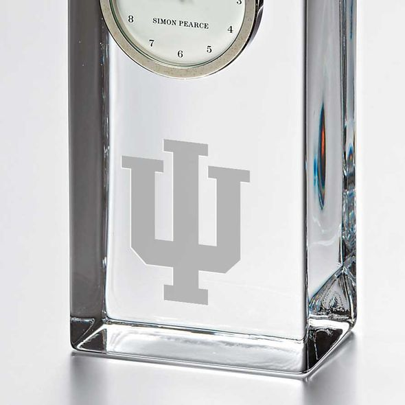 Indiana University Tall Glass Desk Clock by Simon Pearce - Image 2