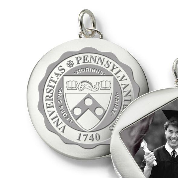 Penn Monica Rich Kosann Round Charm in Silver - Image 2