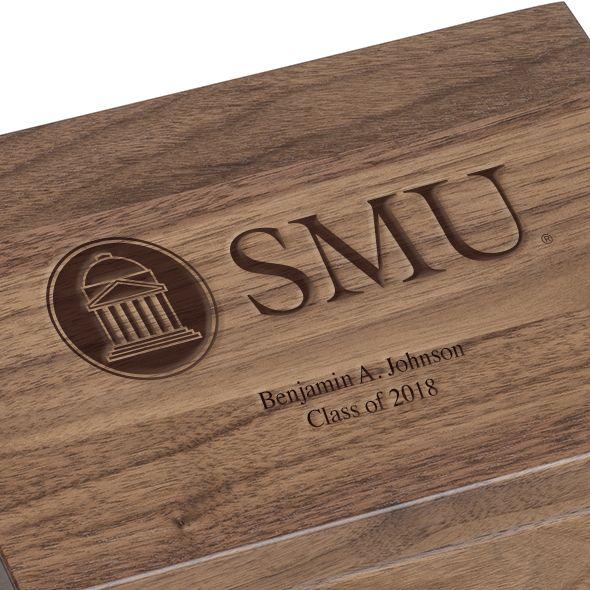Southern Methodist University Solid Walnut Desk Box - Image 3