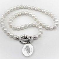 SFASU Pearl Necklace with Sterling Silver Charm