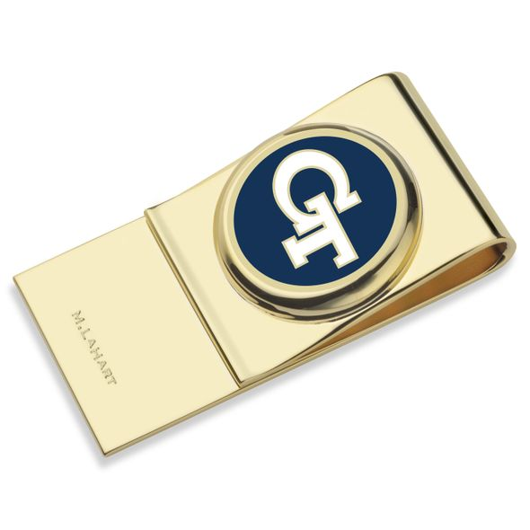 Georgia Tech Enamel Money Clip - Image 1