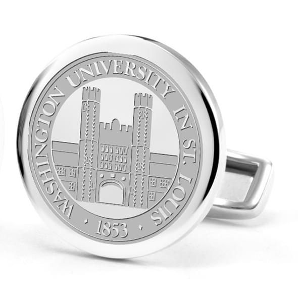 WashU Cufflinks in Sterling Silver - Image 2