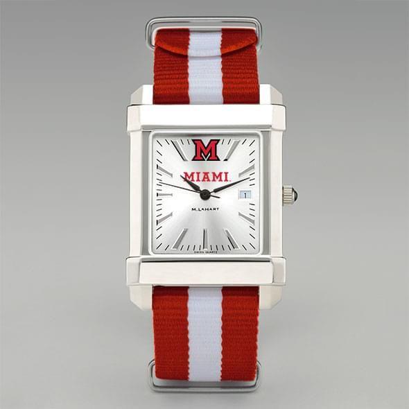 Miami University Collegiate Watch with NATO Strap for Men - Image 2