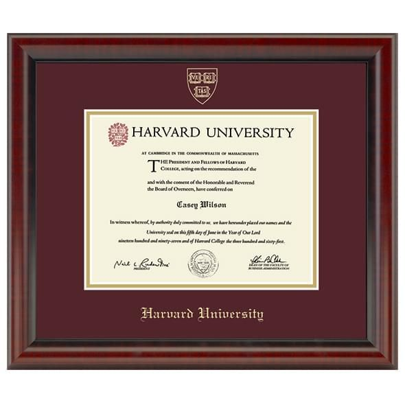 Harvard University Diploma Frame, the Fidelitas