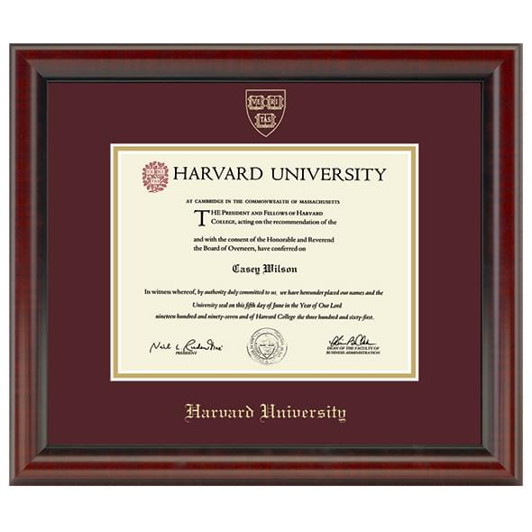 Harvard University Diploma Frame, the Fidelitas - Image 1