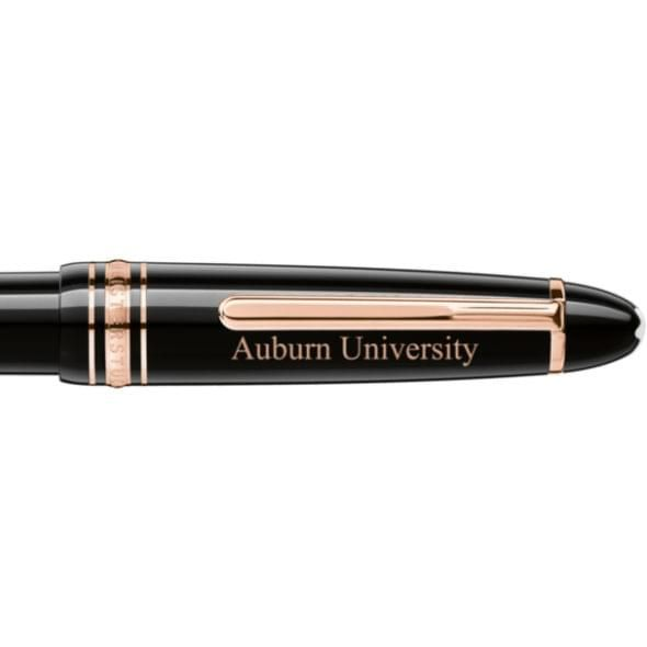 Auburn University Montblanc Meisterstück LeGrand Ballpoint Pen in Red Gold - Image 2