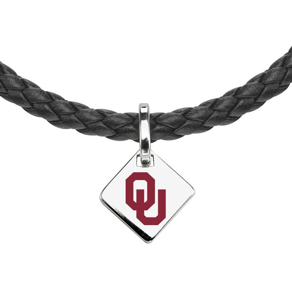 Oklahoma Leather Necklace with Sterling Silver Tag - Image 2