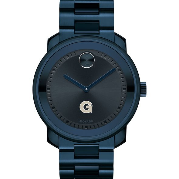 Georgetown University Men's Movado BOLD Blue Ion with Bracelet - Image 2