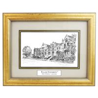 Tulane Black Ink Gold Frame