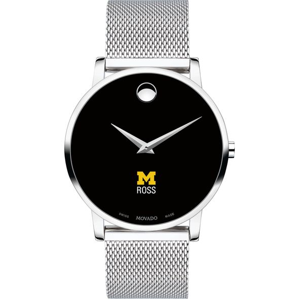 Ross School of Business Men's Movado Museum with Mesh Bracelet - Image 2