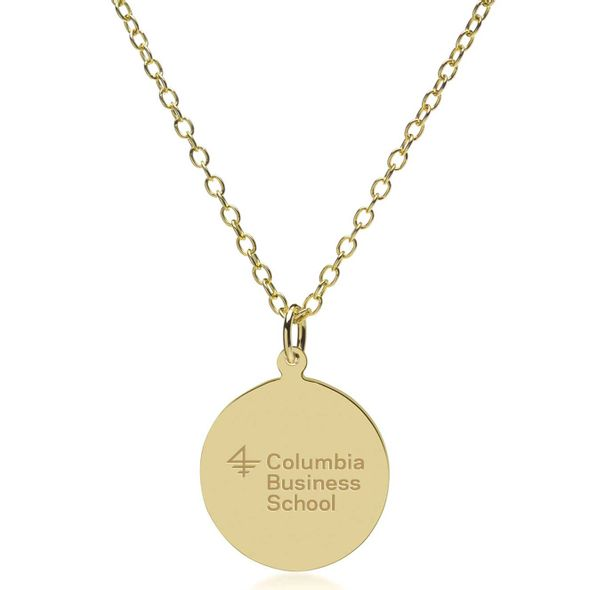 Columbia Business 18K Gold Pendant & Chain - Image 2