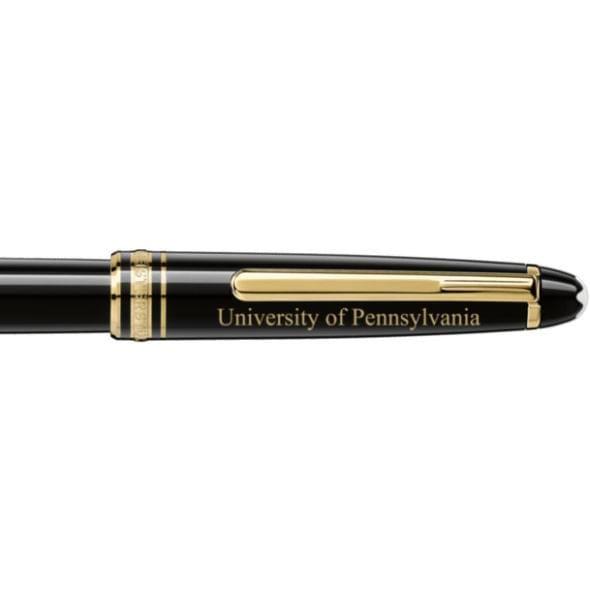 University of Pennsylvania Montblanc Meisterstück Classique Rollerball Pen in Gold - Image 2