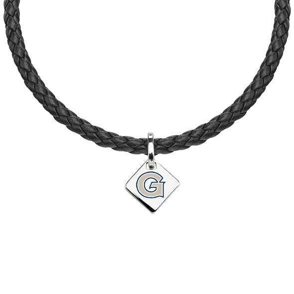 Georgetown Leather Necklace with Sterling Silver Tag