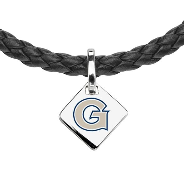 Georgetown Leather Necklace with Sterling Silver Tag - Image 2