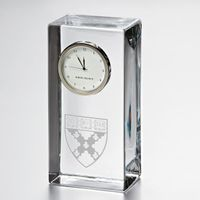 Harvard Business School Tall Glass Desk Clock by Simon Pearce