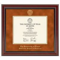 Texas McCombs Diploma Frame, the Fidelitas