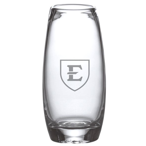 East Tennessee State University Glass Addison Vase by Simon Pearce