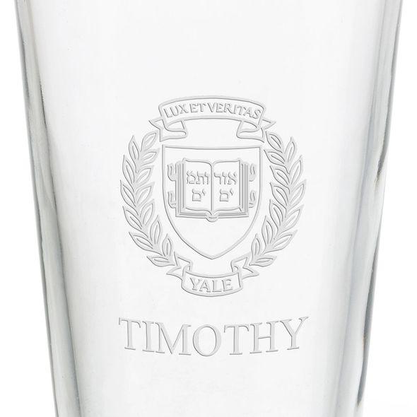 Yale University 16 oz Pint Glass - Image 3